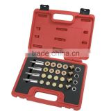 24pc Oil Pan Thread Repair Set M13 M15 M17 M20 Oil Pan Drain Plug Thread Repair Tool Set