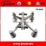 Stainless Steel Glass Wall Spiders , Glass Spider Fittings , Curtain Wall Spider Glass System