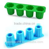 FDA Freeze Forming tray 4 cups Maker Mold Party Silicone Fresher Shooter Ice Cube Shot Glass