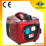 2 stroke engine 950 gasoline generator , 0.85kva inverter gasoline generator with 2 stroke 63cc gasoline engine