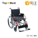 TOPMEDI foldable steel manual wheelchair for elderly and disabled people