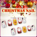 2017 OEM Christmas false nail decal water for nail art