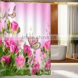 Quality Suppliers Wholesale Custom Printed 3D Shower Curtain,Polyester Shower Curtain,Hookless Shower Curtain