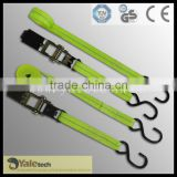 safety belt in ratchet tie down cam buckle with hooks and rings best price by China manufacturer