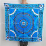 Customize Hand Rolling Silk Twill Square Scarf Digital Printed Bandana