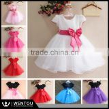 2016 New Beautiful Short sleeve Kid Princess Dress