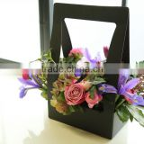 Portable Flower Gift Packaging Box Waterproof Paper Basket Box Case Potting Plants Gift Paking Home Decorations