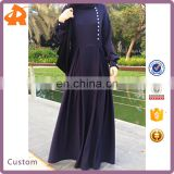 long sleeve modern turkish abaya,high quality Crepe dubai abaya fabric