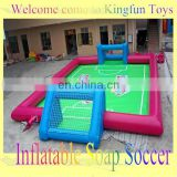 Cool summer inflatable football soap playground/foosball soap yard