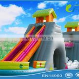 PVC giant inflatable slide inflatable dry slide inflatable castle slide for park