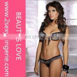 Wholesale one size cheap price Beauty's Love open girl underwear belly dance bra and panty