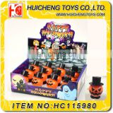 Cheap small plastic mini promotion halloween pumpkin wind toys for kids