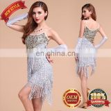 BestDance Dance Latin latin dance dress cheap Tassel Sequin Fringe Flapper Dress