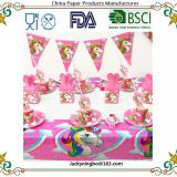 Unicorn Theme Party Tableware Plate Napkins Candy Box Popcorn Box Banner Flags Kid's Birthday Party Decorations Supplies
