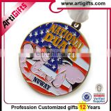 Finely processed soft enamel metal judo medal