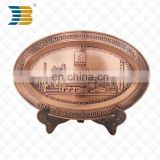 3D custom tourist country souvenir metal embossing plate