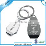 promotion metal type keychain with lasered logo