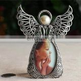 jewelry metal angel figurines picture photo frame angel sweet baby bronze photo frame