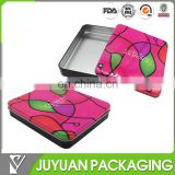 Tin cosmetic gift boxes tin aluminum cosmetic packaging box