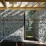 Durable Woven Gabion Baskets Box / Rock Baskets Wire Mesh Abrasion Resistance