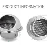 stainless steel exhaust hood wall Ceiling vent cap Exhaust Grille Cover outdoor air outlet  ventilation  system