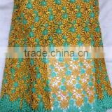 YL002-2 brown wedding material multi color african guipure lace fabric