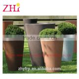 brown decorative fiberglass flower pot