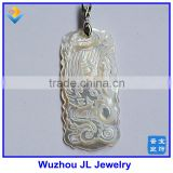 2016 New Pearl Accessory Cameo white mother of Pearl Carved Phoenix Pendant