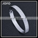 Novelty Gold-plated Stainless Steel Women's Cuff Bangle Jewelry Crystal Bracelet SMJ0062