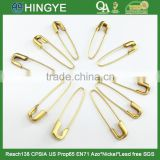2015 wholesale high quality gold plating brass metal safety pin CSJ-001                                                                         Quality Choice