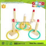 EZ6005 Wooden Colorful Quoits Ring Toss Game for Kids