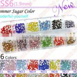 Mixed Colors !1200pcs/box AB Colors DMC HotFix FlatBack Rhinestones,high shining austria crystal stones #1091