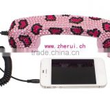 Diamond handset receiver for mobile phone