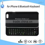 Slide Foldable Keyboard 4.7 inch Hard Case Cover Wireless bluetooth Keyboard for iPhone 6