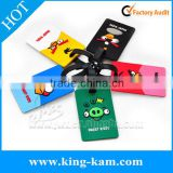 Custom design FDA Silicone embossed luggage tag blank name tag for promotion