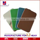 Alucoworld laminated veneer sheets 4mm aluminum plastic panels acm panel