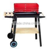 Large square pully indoor charcoal bbq grill