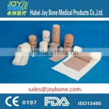 skin color elastic bandage with blue /red lines, elastic crepe/plain bandage, stretch bandage
