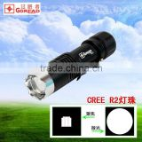 Goread C23 focusable zoom rechargeable aluminum pen clip glass braker R2 LED mini torch