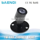 High quality DC12V aluminium body 2W round type recessed led under cabinet light nice quality