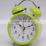 "4"" twin bell alarm clock, quartz analog table alarm clock, real belling desk clock,"