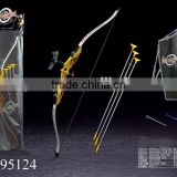 Hot selling 1:1.8 simulation plastic toy bow and arrow hunting crossbow with infrared ray