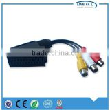 cheap and fine 21 pin scart to 3 rca cable scart scart to dvi cable hdd media player scart