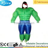 DJ-CO-115 Adult Chub Strong Man Inflatable Blow Up Color Body Halloween Costume Jumpsuit