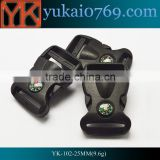 Yukai bag luggage suitcase belt strap side release buckle with mini compass
