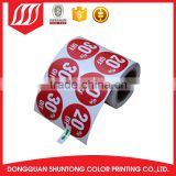 thermal adhesive printing plastic label roll sticker printing for mug