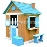wooden outdoor kids playhouse