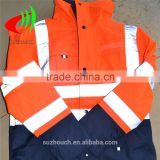 fluorescent orange reflective safety clothing with 3m reflective tape and ripstop fabric