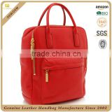 CSS1698-001 Multi functional backpack , Good quality side bags for girls, Genuine leather college messenger bag