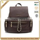 China high quality travel backpack, lady leather travel bag, custom ladys genuine leather backpack for your brand